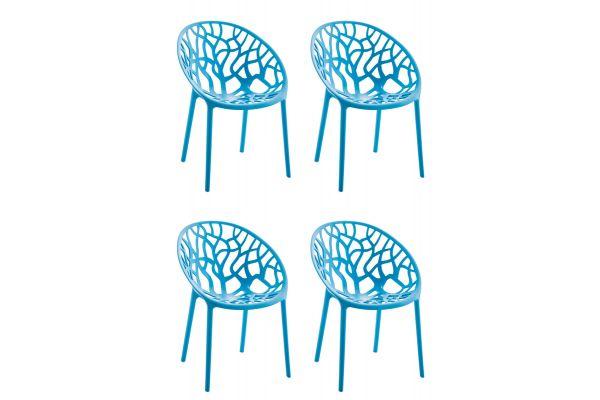 4er Set Stuhl Hope blau