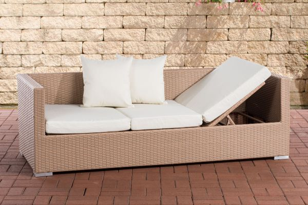 Lounge-Sofa Solano cremeweiß sand