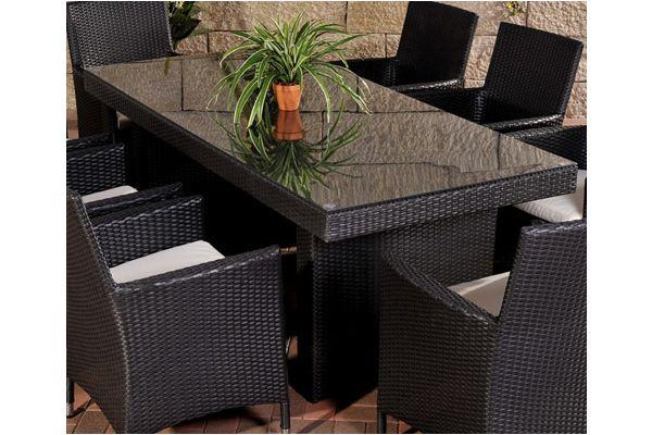 Polyrattan Tisch Avignon BIG, Größe 200 x 90 cm, 8