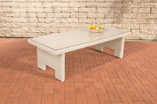 Tisch Sandnes XL 260 cm 5mm perlweiß