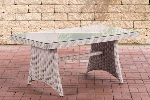 Tisch Sorano / Siena 5mm perlweiß