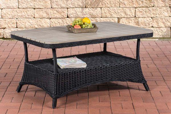 WPC-Tisch Pandora 120x80 schwarz
